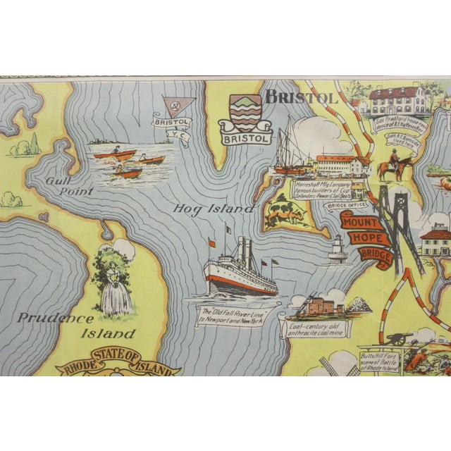 Paper Rhode Island Map, 1933 For Sale - Image 7 of 7