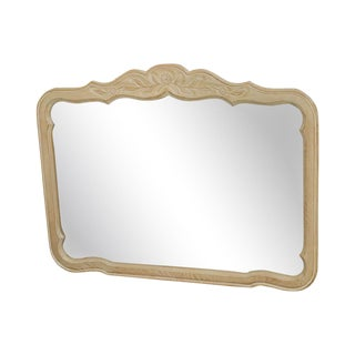 Drexel Heritage Cabernet Collection French Country Cerused White Washed Frame Mirror