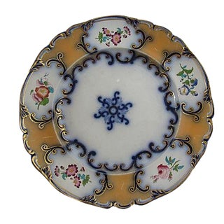 Antique English Flow Blue Wall Plate