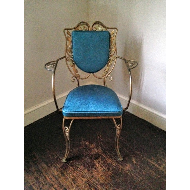Mid Century Hollywood Regency Accent Chair - Image 11 of 11