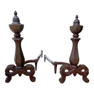 Art Nouveau Andirons- a Pair For Sale