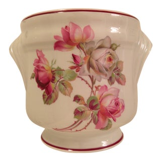 Vintage Floral Limoges Cachepot For Sale