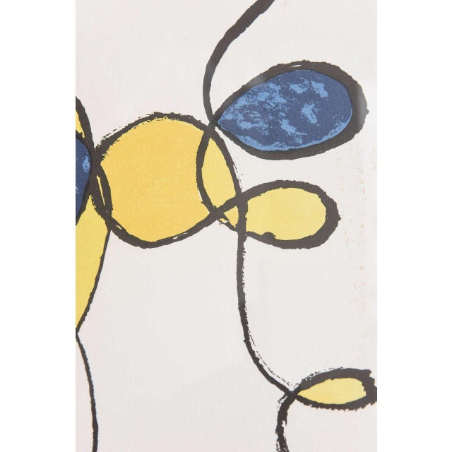 Blue 20th Century Pencil Signed Color Lithograph by Alexander Calder For Sale - Image 8 of 9