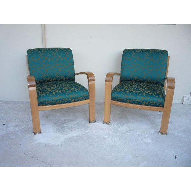 Pair of J. Robert Scott Sally Sirkin Lewis Deco Lounge Chairs For Sale - Image 13 of 13