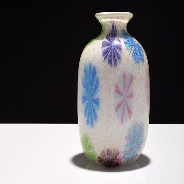 Vintage Dino Martens Pinwheel Design Vase, Provenance Lobel For Sale - Image 9 of 9