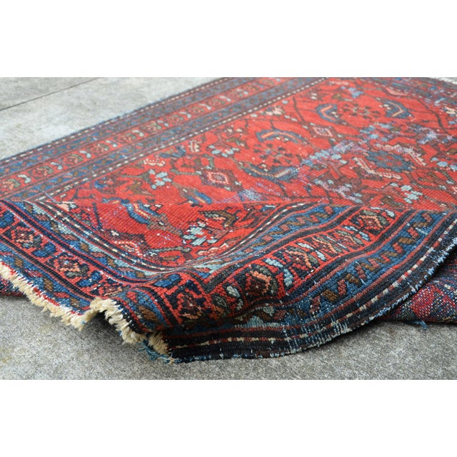 """Textile Antique Hand Knotted Persian Floral Design Rug - 3'6"""" X 4'8"""" For Sale - Image 7 of 11"""