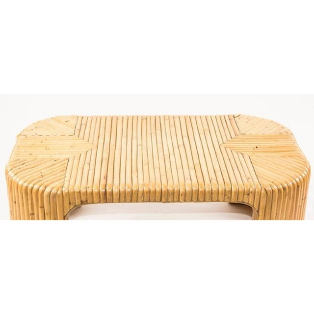 Boho Chic Mid Century Bamboo Coffee Table For Sale - Image 3 of 7