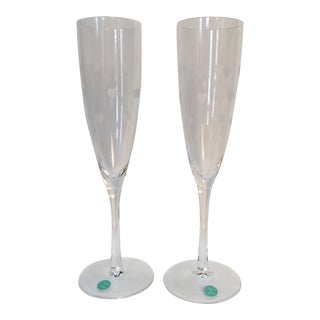 Tiffany & Co. Champagne Flutes - a Pair For Sale