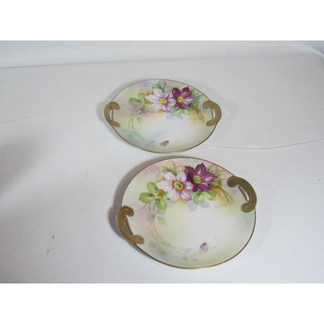Mid-Century Modern Nippon Floral Plates - A Pair For Sale - Image 3 of 5