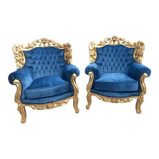 Italian Rococo Two Chairs - A Pair For Sale