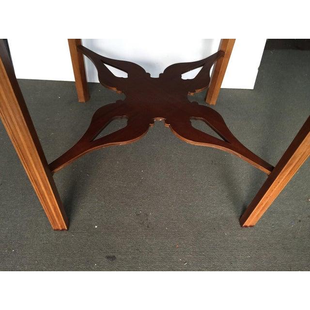 Baker Furniture Drop Leaf Table Pembroke Table Historic Charleston For Sale In San Francisco - Image 6 of 9