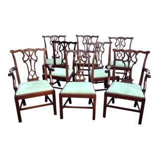 Set of 8 Mahogany Dining Chairs For Sale