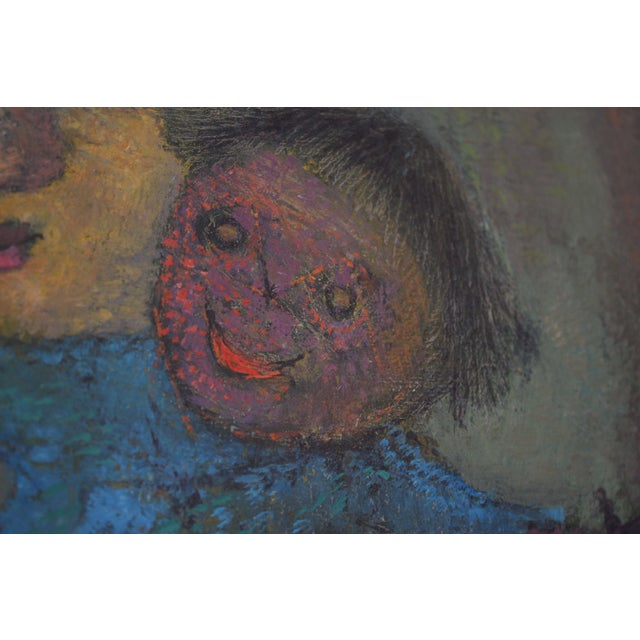 Canvas Karnig Nalbandian 'Blue Doll' Oil on Canvas, 1953 For Sale - Image 7 of 11