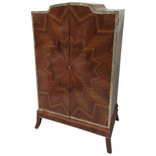 French Art Deco Sunburst Armoire For Sale