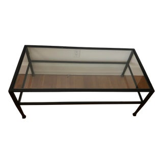 Contemporary Pottery Barn Tanner Coffee Table For Sale