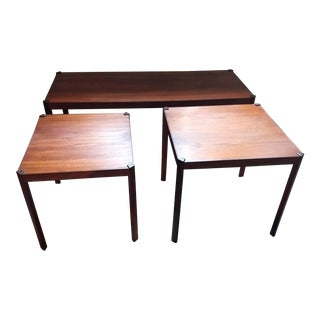 Vintage Hans Olsen Danish Modern Teak Coffee & Side Tables - Set of 3 For Sale