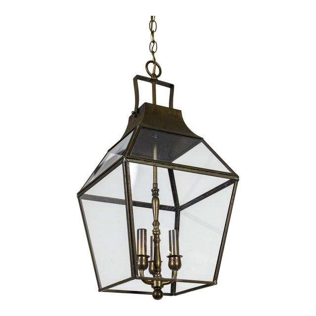 Vintage Geometric Brass Finished Lantern Pendant Light ...