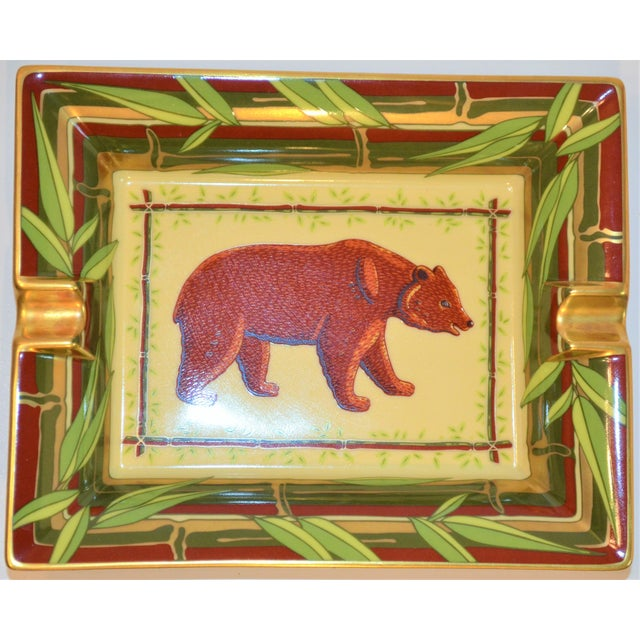 Vintage Hermès Bear and Bamboo Cigar Tray For Sale - Image 9 of 13