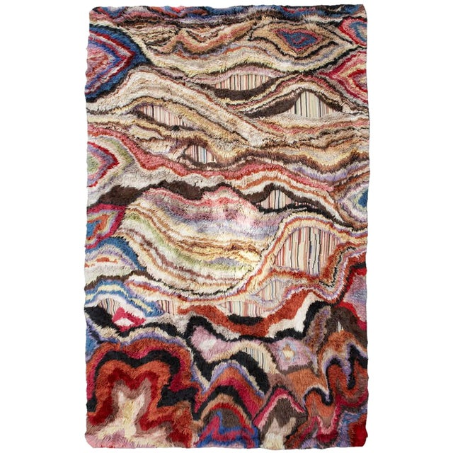 """Textile Boccara Hand Knotted Artistic Rug - """"Amazonia"""" For Sale - Image 7 of 7"""