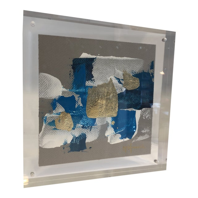 Original Art Floating in Lucite For Sale