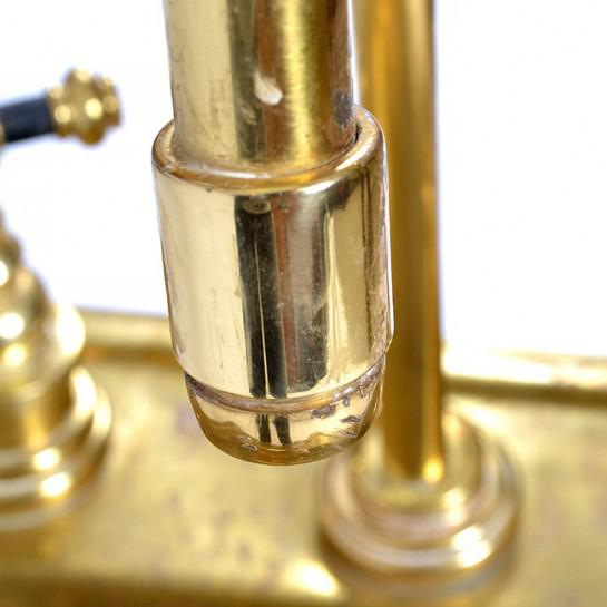 1920s Art Deco Brass Sink For Sale - Image 10 of 12