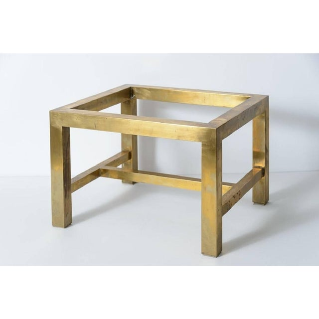 Maitland Smith Tessellated Marble and Brass Box on Stand For Sale - Image 10 of 11