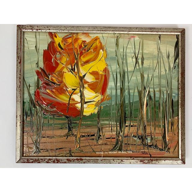 Vintage Landscape Painting Signed Fuller For Sale - Image 10 of 10