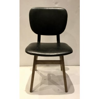 Industrial Modern Black Faux Leather Side Chair/Desk Chair Preview