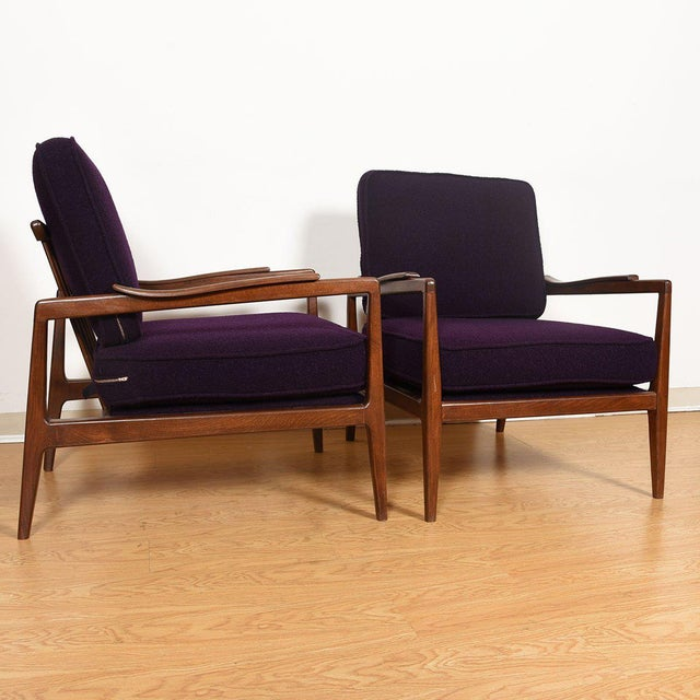 Edmond Spence Mid-Century Modern Walnut Club Chairs - a Pair For Sale In Washington DC - Image 6 of 13
