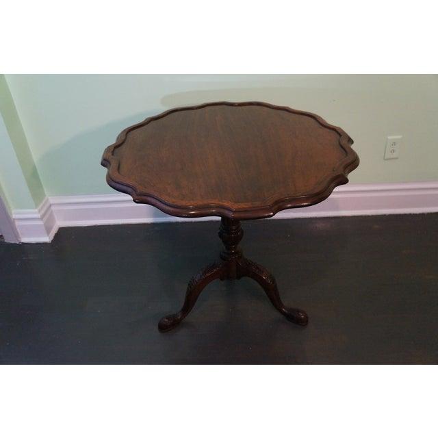 Antique 19th Century Pie Crust Round Center Table - Image 2 of 8