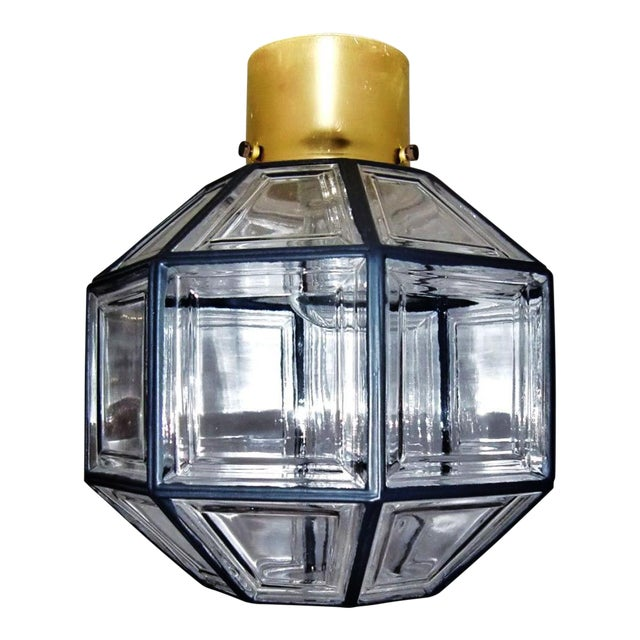 Ceiling lamp by Glashütte Limburg For Sale