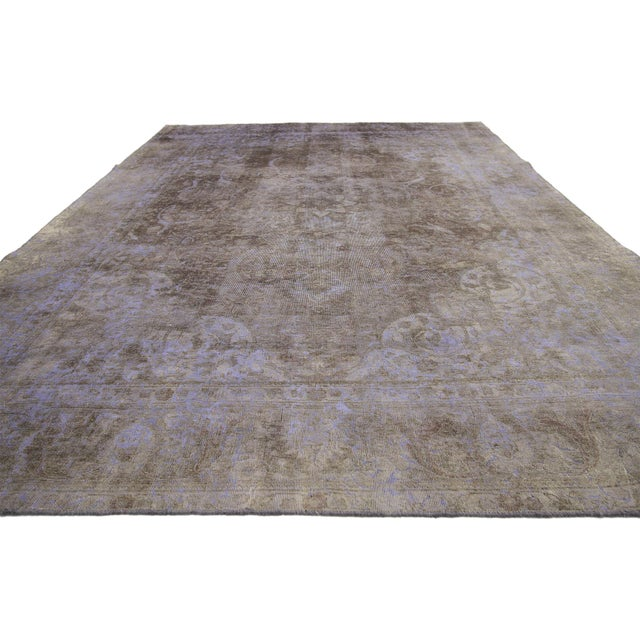 French Distressed Vintage Turkish Rug - 07'08 X 11'02 For Sale - Image 3 of 6