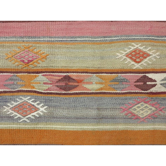 "Anatolian Kilim Runner Pastel Colored Hallway -2'1'x10"" For Sale - Image 12 of 13"