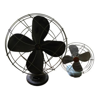 1950s Vintage Table Fans - a Pair For Sale