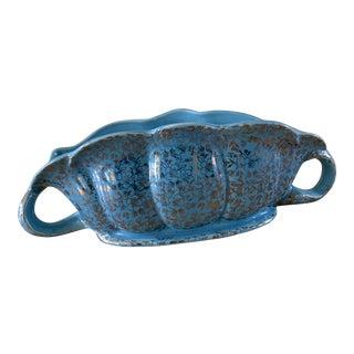 1950s Ceramic Scalloped Plant Vessel For Sale