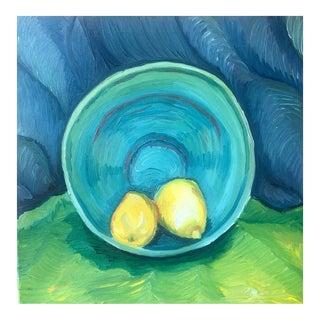Impressionist Still Life of Lemons and Bowl For Sale