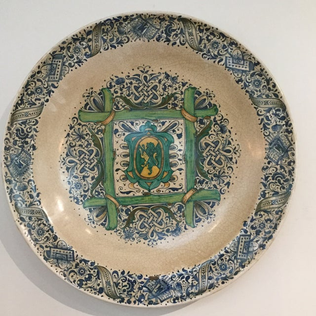 1990s Italian Faience Ceramic Charger/Platter For Sale - Image 13 of 13