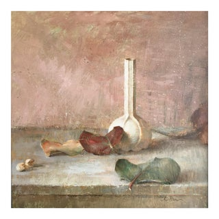 "Brown Contemporary Framed Still Life ""In the Pink"" For Sale"