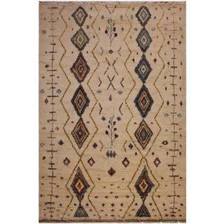 Modern Bauhaus Moroccan Ayana Wool Rug - 8′9″ × 12′3″ For Sale