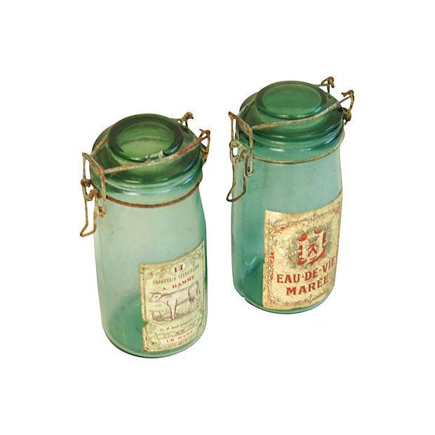 Early 1900s French Preserve Canning Jars - A Pair - Image 2 of 5