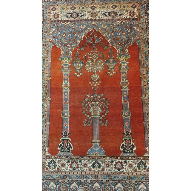 Antique Hand Made Persian Mashhad Rug - 4′4″ × 7′ For Sale - Image 4 of 10