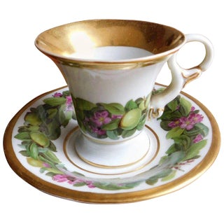 19th Century Antique Meissen Porcelain Cup and Saucer
