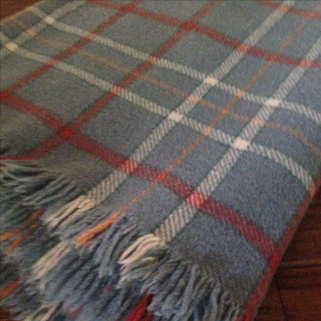 Vintage Plaid Wool Blend Blanket - Image 11 of 11