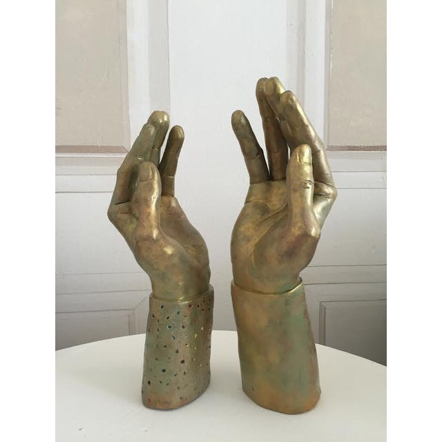 Sculptural Hand-Made Hands - Pair - Image 6 of 9