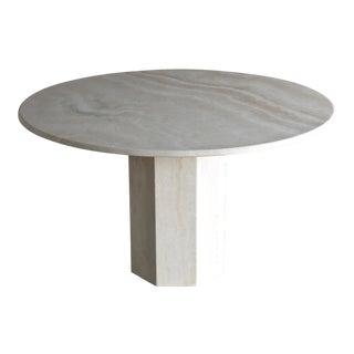 Travertine Centre Table, Circa 1980 For Sale