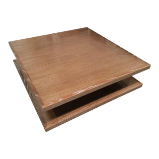 Custom Wooden Square Coffee Table