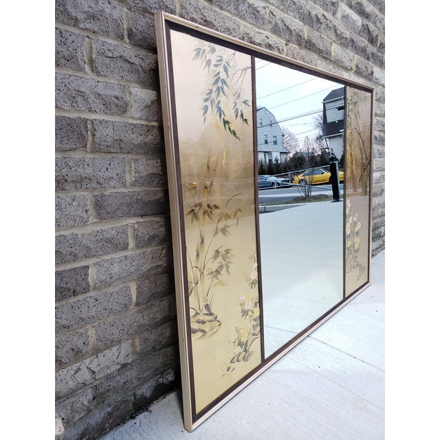 1970s Vintage Labarge Large Chinoiserie Style Mirror For Sale - Image 5 of 12