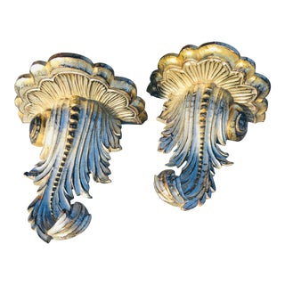 Hand Carved Italian Wall Shelves - a Pair For Sale