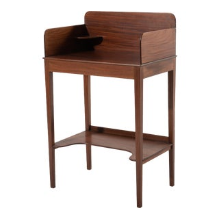 Early 20th Century Reproduction Federal Antique Mahogany Wash Stand For Sale