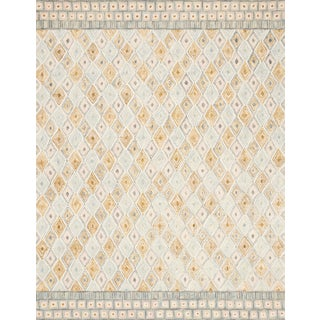 "Loloi Rugs Priti Rug, Mist / Gold - 9'3""x13' For Sale"